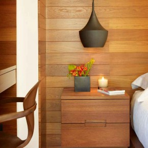 Careful Space Planning Tropical House Interior Bedroom Table View