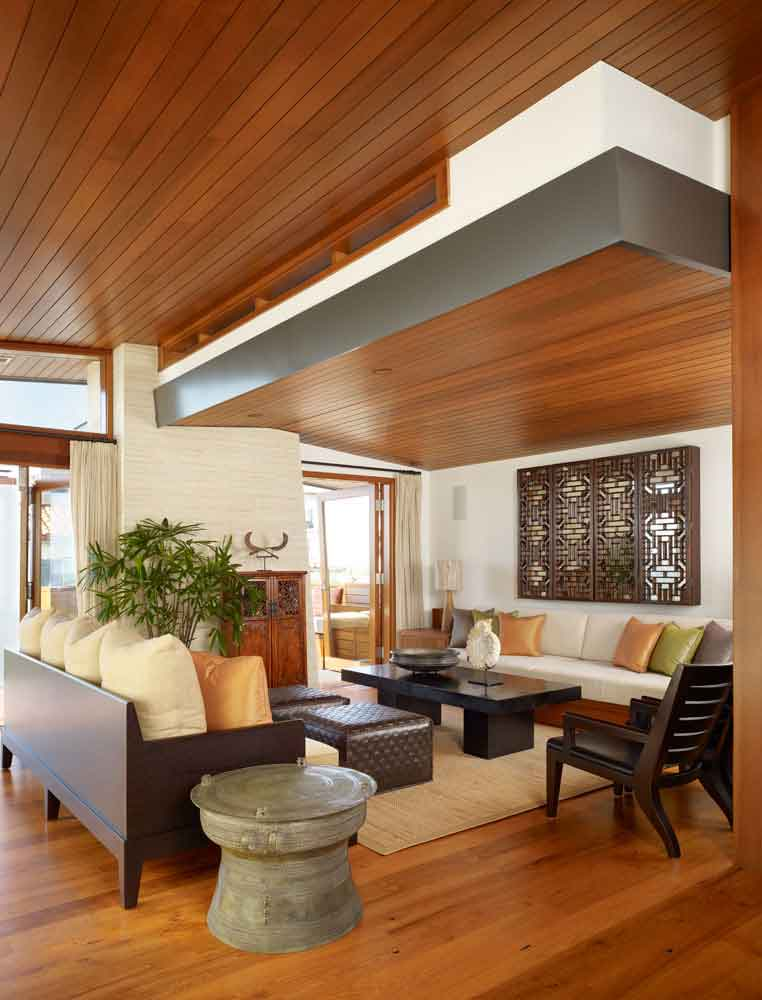 Careful space planning tropical house living room view for Tropical living room ideas pictures