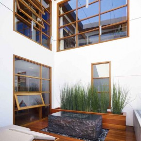 Careful Space Planning Tropical House Lounge With Garden View