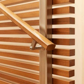Careful Space Planning Tropical House Wooden Banister