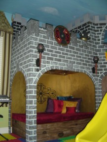 Castle Playroom With Purple Mattress