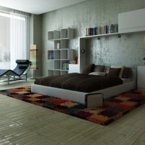 Clean Colorful Carpet with White Wall - Amazing Colorful Bedrooms