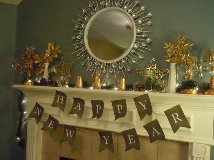 20 New Years Eve Mantel Decorations