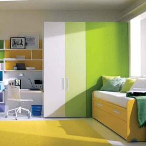 Cool-Yellow-Green-Teenage-Girls-Bedroom