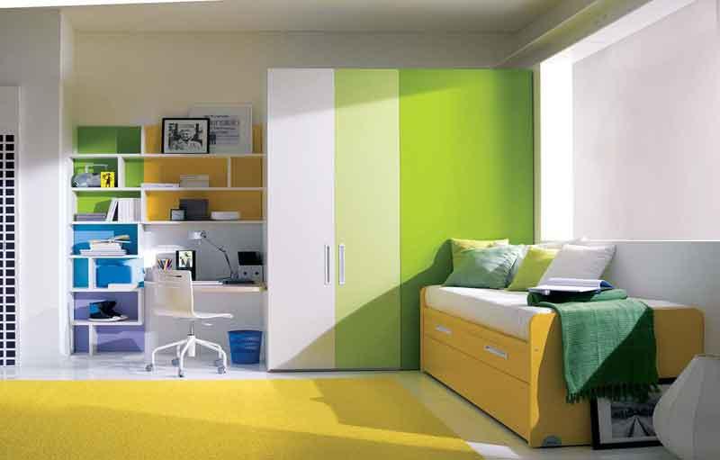 Cool-Yellow-Green-Teenage-Girls-Bedroom | Interior Design ...