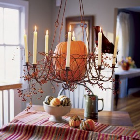 20 Fall Chandelier Decoration Ideas