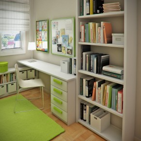 Design Ideas Small Floorspace Kids Rooms Cool Green