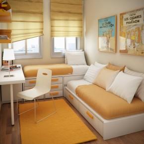 Design Ideas Small Floorspace Kids Rooms Fresh Orange