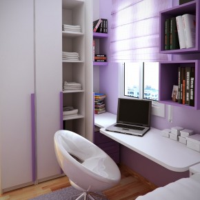 Design Ideas Small Floorspace Kids Rooms Purple White