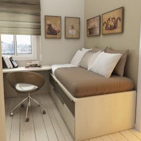 Design Ideas Small Floorspace Kids Rooms Simple Brown