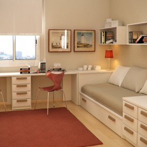 Design Ideas Small Floorspace Kids Rooms Twins Red