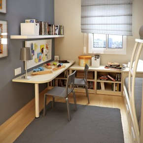 Design Ideas Small Floorspace Kids Rooms Wall Grey