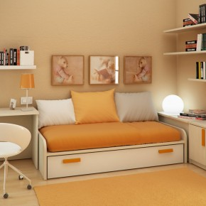 Design Ideas Small Floorspace Kids Rooms Yellow White