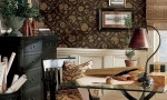 Design Interior French Country Brown Wall Glass Table