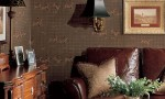 Design Interior French Country Brown Wall And Brown Sofa