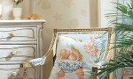 Design Interior French Country Floral Combination Chair And Wall