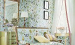 Design Interior French Country Green Floral Wall And Lounge Floral