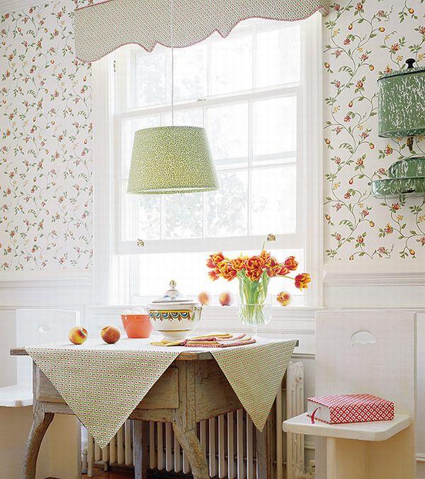 Design Interior French Country Retro White Floral White