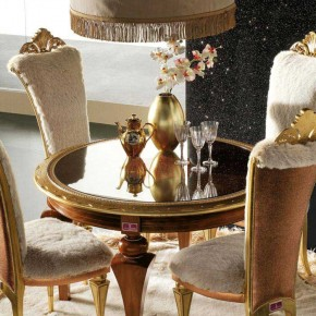 Dining Table Set with Gold Fresh Carpet - Elegant Luxury Dining Room Set by AltaModa