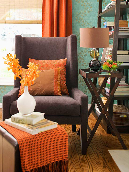 fall orange curtains for the living room fall home decor revedecor.com