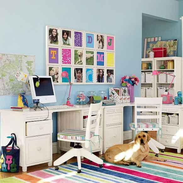 Study Room Color Ideas: Fresh-Bright-Color-Kids-Study-Room