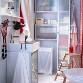Fresh Clean White Wall Bathroom Design Ideas 2012 by IKEA