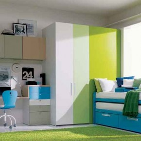 Fresh-Green-Teenage-Girls-Bedroom