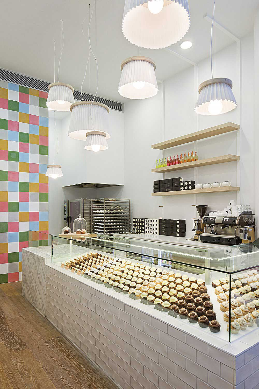 Interior Design for a Cupcake Shop with glass cookies table-Interior ...