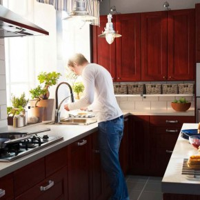 Kitchen Design Ideas 2012 by IKEA Brown Cabinet Clean Window