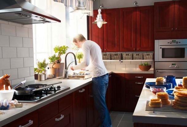 Kitchen Design Ideas 2012 by IKEA Brown Cabinet Clean Window
