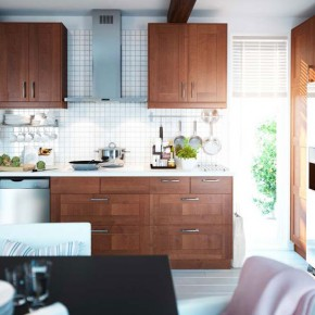 Kitchen Design Ideas 2012 by IKEA Brown Cabinet Set