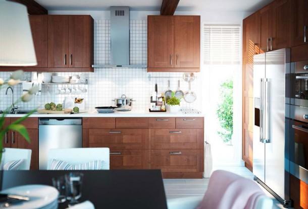 Kitchen Design Ideas 2012 by IKEA Brown Cabinet Set