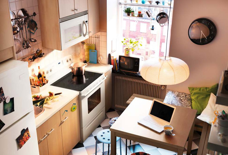 Kitchen Design Ideas 2012 ~ Kitchen design ideas by ikea brown wall small space