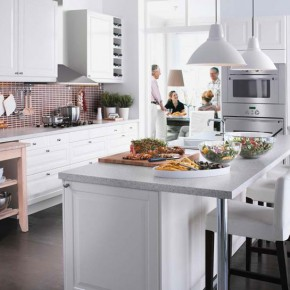 Kitchen Design Ideas 2012 by IKEA Elegant White Dnining Table