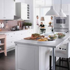 Kitchen Design Ideas 2012 by IKEA Elegant White Dnining Table