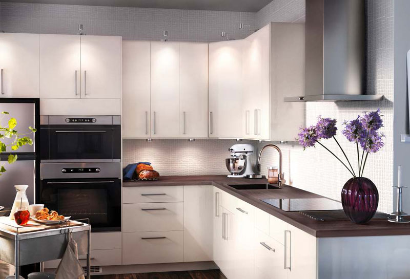 Kitchen design ideas 2012 by ikea white cabinet modern for Kitchen remodel inspiration