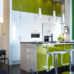 Kitchen Design Ideas 2012 by IKEA White Green Cabinet Modern Chair