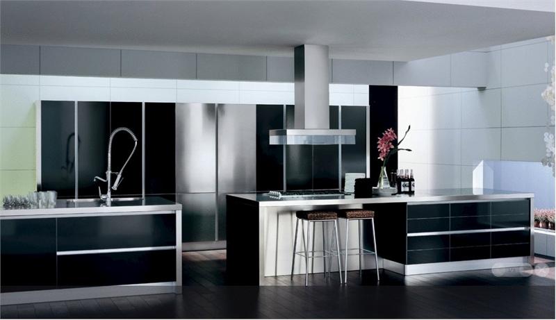 Kitchen design black and white kitchen design ideas 14 - Kitchen ideas black and white ...