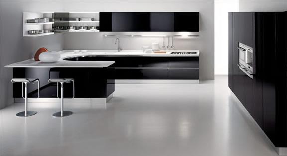 Kitchen Design Black and white kitchen design ideas 20
