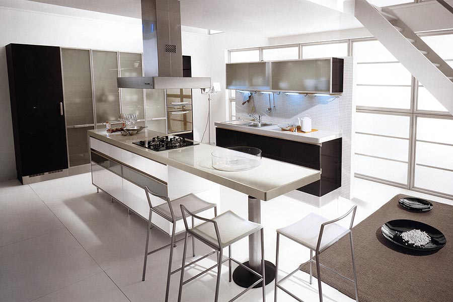Kitchen design black and white kitchen design ideas 23 for Black and white modern kitchen designs