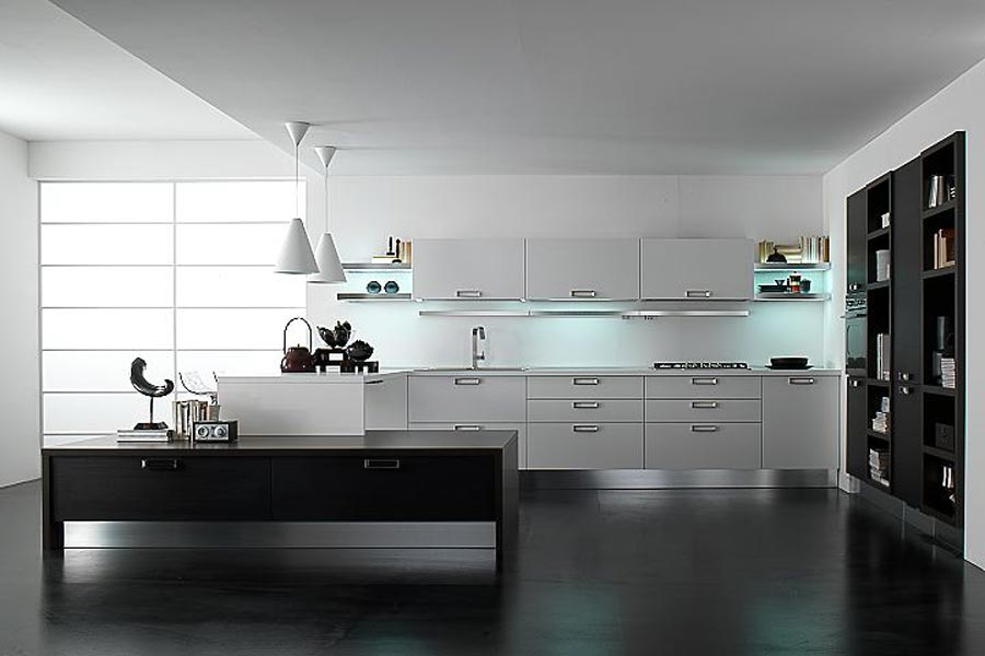 Kitchen design black and white kitchen design ideas 24 - Kitchen ideas black and white ...