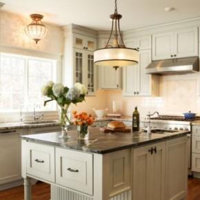 20 chandelier ideas for the kitchen interior design for Chandelier over kitchen island