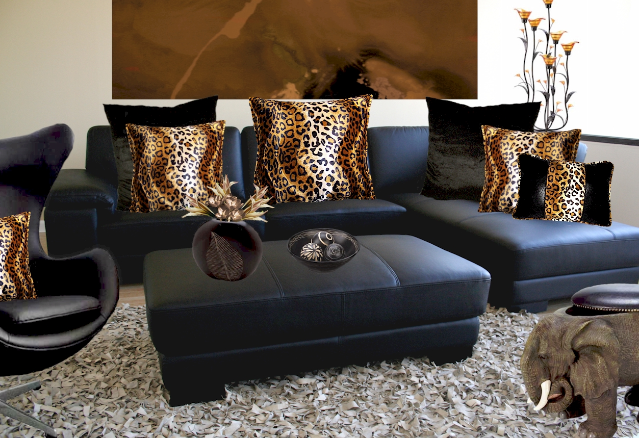 Leopard Room Decor for Living room   Interior Design Center ...