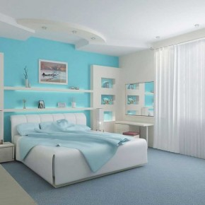 Here are 20 pastel colored wallpaper home interior design for Pastel teal paint