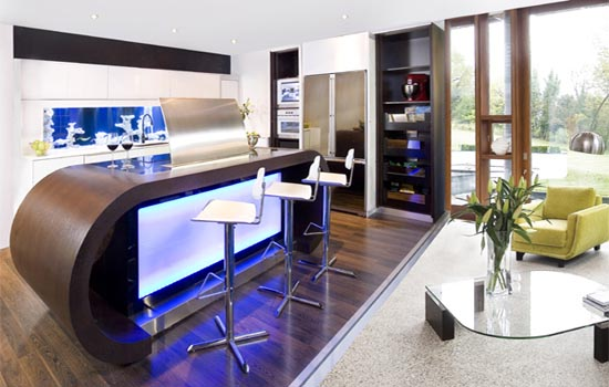 Darren Morgan  : Cool Function Aquarium Kitchen With Visual Impact