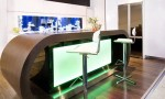 Modern Functional Aquarium Kitchen Green Light