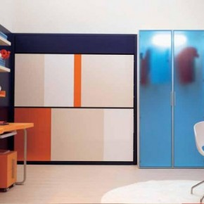 Orange Furniture Teen Rooms with Small Space
