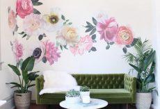 20 Flower Wallpaper Ideas for the Living Room