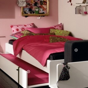 Pink Double Bed Cool and Trendy Teen Room Design Ideas