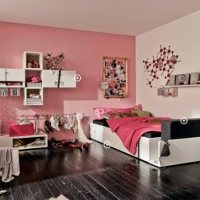 Pink simple cool and trendy teen room design ideas home for Cool room wallpaper